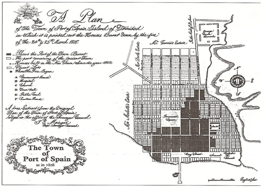 Map of port of spain 1808